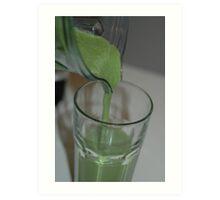 green smoothie Art Print