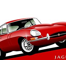 E-Type Jaguar Series 1 Coupe red by car2oonz