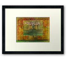 Inspirational Ghandi quote with tree Framed Print