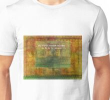Inspirational Ghandi quote with tree Unisex T-Shirt