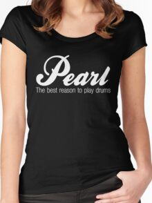 White Pearl  Drums Women's Fitted Scoop T-Shirt