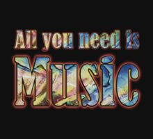 All you need is music  One Piece - Long Sleeve