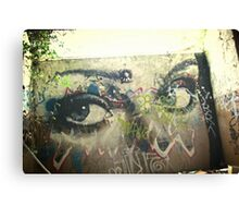 Face on the wall Canvas Print