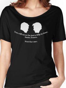 Janto Slash Print (white) Women's Relaxed Fit T-Shirt