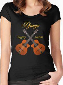 Django Gypsy Guitar Women's Fitted Scoop T-Shirt