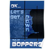 Boppers - Blue Poster