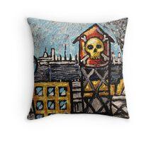 Skull City Throw Pillow