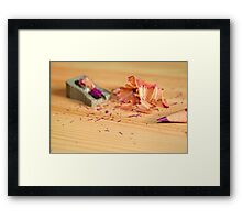 Sharp pencil Framed Print