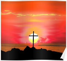 Sunset Cross Poster