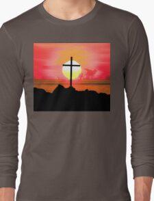 Sunset Cross Long Sleeve T-Shirt