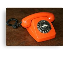 Orange Telephone Canvas Print