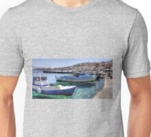 Fishing Boats in the Harbour Unisex T-Shirt