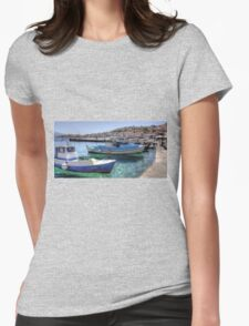 Fishing Boats in the Harbour Womens Fitted T-Shirt