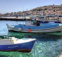 Fishing Boats in the Harbour by Tom Gomez
