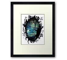 The Silver Doe blackframend Framed Print