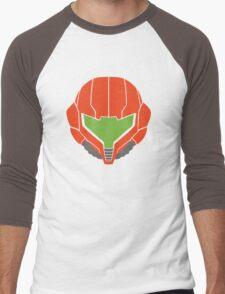 Samus' Powersuit Helmet Men's Baseball ¾ T-Shirt