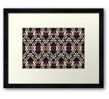 Abstract Geometric Modern Seamless Pattern Framed Print