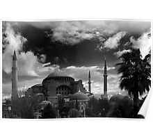 Hagia Sophia in Black and White Poster