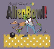 alien bowling Kids Clothes