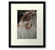 Flower girl at a wedding Framed Print