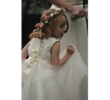Flower girl at a wedding Photographic Print