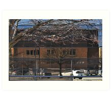 Reflections in Chase Building Art Print