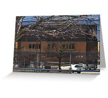 Reflections in Chase Building Greeting Card