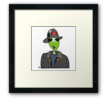 alien fireman Framed Print