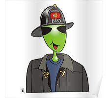 alien fireman Poster
