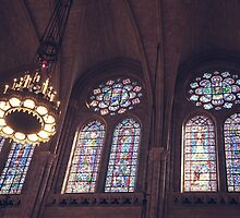 Sunlight Streaming Through Stained Glass by W. Lotus