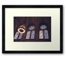 Sunlight Streaming Through Stained Glass Framed Print
