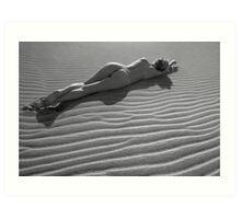 Nude in the Dunes Art Print