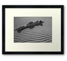 Nude in the Dunes Framed Print