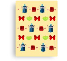 Whovian patten print edition Canvas Print
