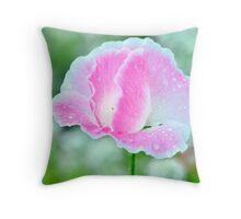 Light Pink Corn Poppy Throw Pillow