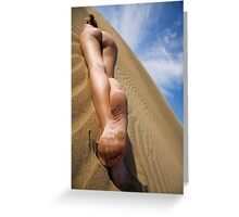 Nude in the Dunes Colour Greeting Card