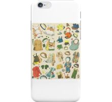 Vintage Paper Dolls iPhone Case/Skin
