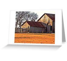 Old Barns Greeting Card