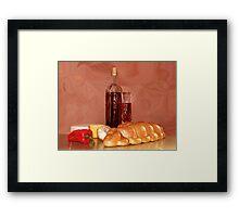 Rusty Wine Framed Print
