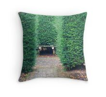 Bodelwyddan Castle Garden Throw Pillow