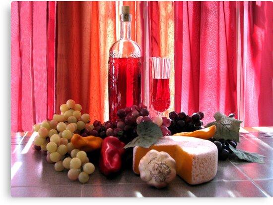 Wine In The Dinning Room by Linda Miller Gesualdo