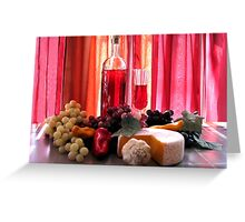 Wine In The Dinning Room Greeting Card