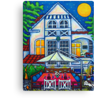 The Little Festive Danish House Canvas Print