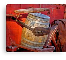 Wagon Barrel Canvas Print