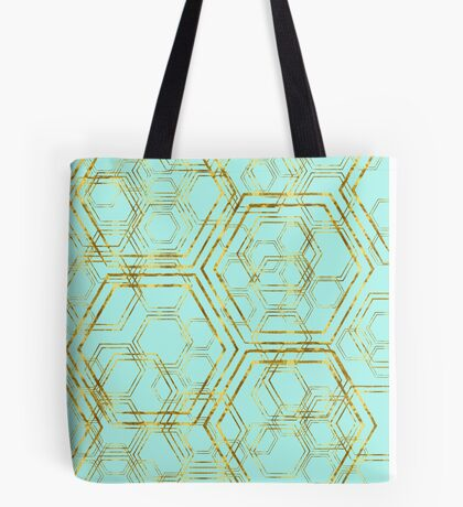 Hexagold Tote Bag