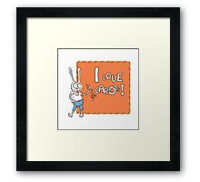 I love carrots. Framed Print