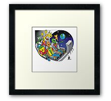 there is earth! Framed Print