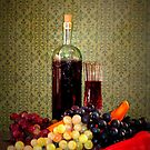 Wine And Grapes by Linda Miller Gesualdo