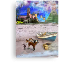 What Do Dogs Dream?  Metal Print