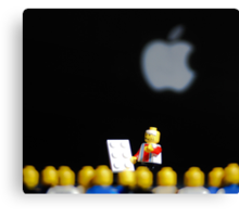 Steve Jobs Launches the iPad. Canvas Print
